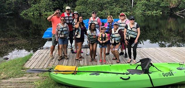 recreational therapy kayaking trip in florida